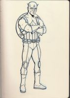 Captain America - Sketchbook Sketch by KennySwanston