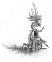 Shaun Tan-ish Robot by bluefootednewt