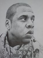 Jay-Z Stipple by Michaelstuddaz