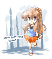Happy Birthday Aquamarine74 by yassui