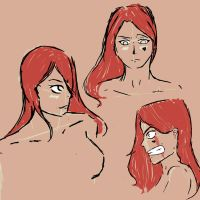 [One Piece OC] Random and quick expressions study by Thefighterwhodreams