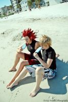 Roxas+Axel: Salty and Sweet by mysticmoon13