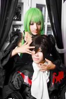 C.C and Lelouch by meiji0805