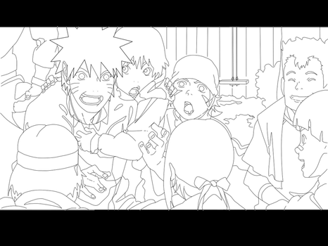 naruto lineart by scarface8882