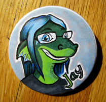 Jay button by feathergills