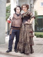 Sweeney Todd  and Mrs. Lovett by Opergeist