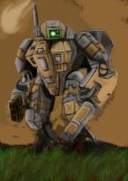 warhammer 40k tau battle suit by bazral234