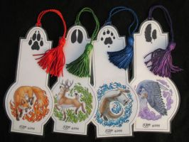 Elemental Animal Bookmarks by Shadow-Wolf