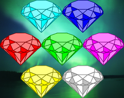 Chaos Emeralds by SEGASister