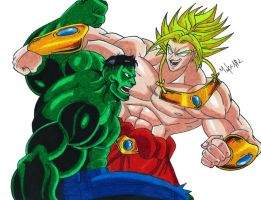 Hulk Vs Broly by MikeES