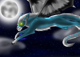 night flight by Shadow-lightning