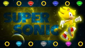 Super Sonic The Hedgehog - Wallpaper by SonicTheHedgehogBG