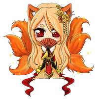 Chibi Commission [Black Tea Geisha] by Spork-a-licious