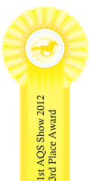 1st AQS Show 2012 3rd Place Ribbon by AgentQStables