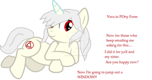 just make the emails stop- Vera as a freakn Pony by peppermix14