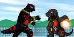 Art Trade - Asylus vs. Mecha Asylus by KingAsylus91