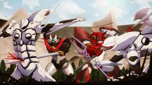COMMISSION: MAZINKAISER and GETTER ARMAGEDON by papillonstudio