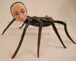 Halloween Spider Doll by strangedolls
