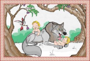 Romulus and Remus by hecmachine