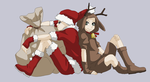 - request - Santa and Deer by Beyond-Birthday-666