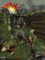 Trench Raiding by NDTwoFives