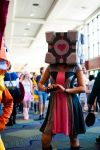 The companion cube girl by meatwad4900