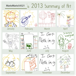 2013 Art Summary by MarioMario54321