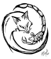 The Fox and The Scorpion by Marcynuk