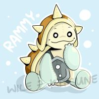 [Fanart] Rammy the plushy! by Wile-Z-Kitsune