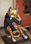 Commission - Derrik thinking by Torheit-die-Katze