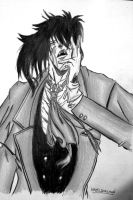 alucard black and white :D by hazeldarkman