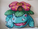 Pokemon: Perler Bead Venusaur by heatbish