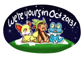 Pokemon 6th Gen Starter w/ Background by Zel-Duh