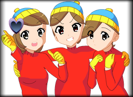 South Park: Different Faces of Eric Cartman Ver.3 by chibinekogirl102