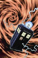 TARDIS in Color by artistjerrybennett