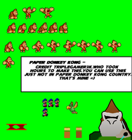Paper Donkey Kong Country v.1 by triplesonicX