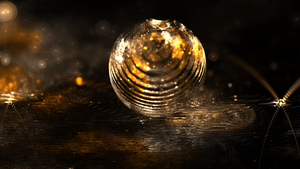 Gold Sphere HD 1920x1080 by luisbc