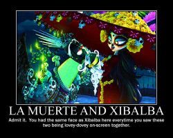 La Muerte and Xibalba Motivational Poster by AnimeMonkeyGirlFan