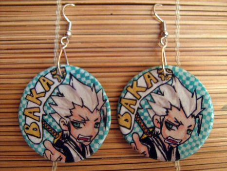 Hitsugaya Toshiro earrings by Alcadeea