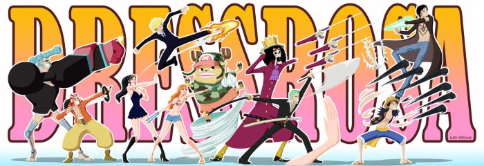 Straw Hat Pirates and Law Cartoon by iurypadilha