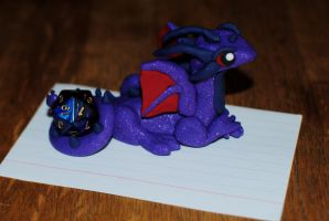Purple Dice Dragon by xColere