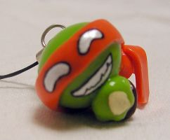 Michelangelo Phone Charm by cleody