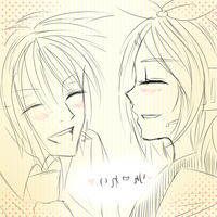 Doodle for Tumblr: Rei and Rin by liferaven
