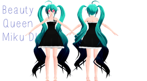 MMD NEWCOMER Beauty Queen Miku DL by Yozane