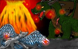 Ma galerie...d'amatrice Wolf_and_dragon_by_shadowripsa-d6wxqi0