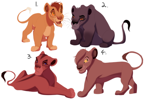 TLK Adopts! ($8) ONE LEFT! by RedTheLioness