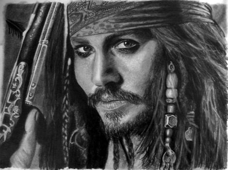 Captain Jack Sparrow by argentinian-queen