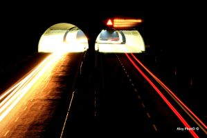 night road by alcyphoto91