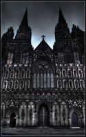 Lichfield Cathedral - Frontal by Kem2000