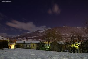 Castel di Sangro winter night by GiovanniSantostefano